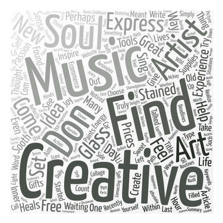 Stained Glass A Z and why creativity heals Word Cloud Concept Text Background