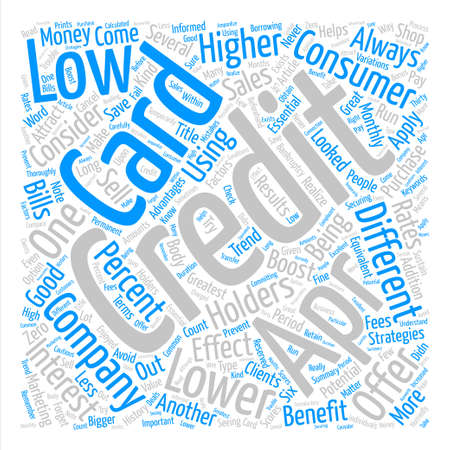 Low APR Credit Card Boost Credit Card Sales Word Cloud Concept Text Background