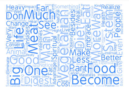 The Good of Vegetarianism text background word cloud concept