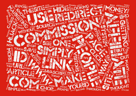 commissions: How to Booost Your Affiliate Commissions by text background word cloud concept Illustration