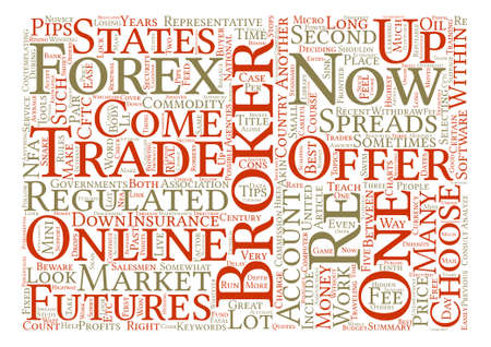 How To Choose A Great Forex Broker text background word cloud concept Illustration