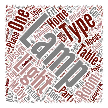 cor: The Right Type Of Lamp For Your Room Word Cloud Concept Text Background
