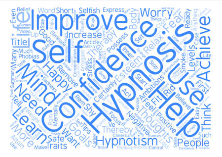 hypnotism: Hypnotism Help Word Cloud Concept Text Background