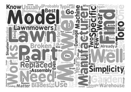 mowers: How To Find Parts For Lawn Mowers Word Cloud Concept Text Background