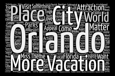 Orlando Is A World Class Tourism Hub text background word cloud concept