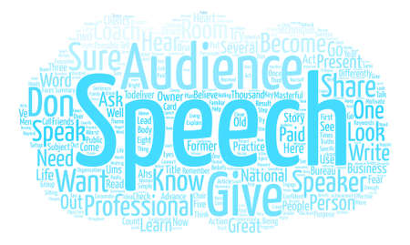 How to Give a Great Speech text background word cloud concept