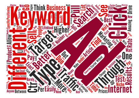 How To Increase Your Click Through Rate text background word cloud concept Ilustração