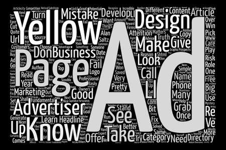 Things Every Yellow Pages Advertiser Needs to Know text background word cloud concept