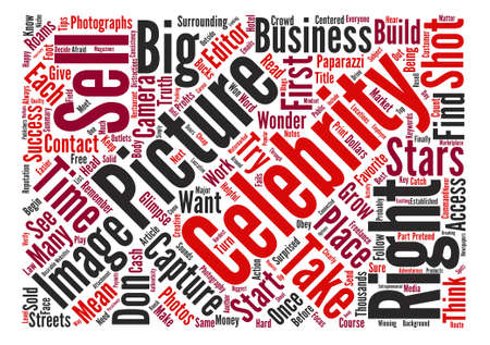 glimpse: Sell Celebrity Photos For Big Profits text background word cloud concept Illustration