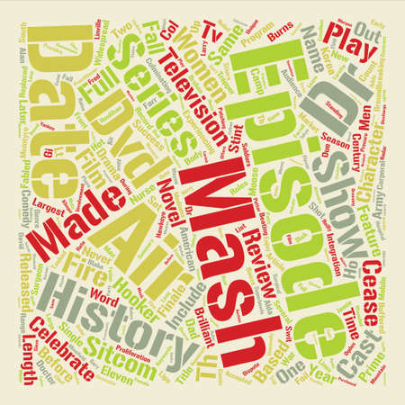 Mash DVD Review text background word cloud concept