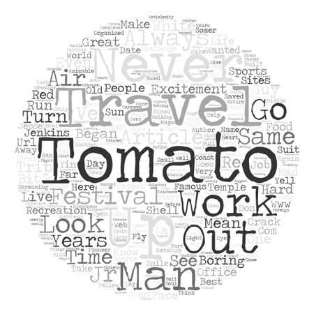 short trip: Short Story Take a Trip To The Temple Of The Great Tomato text background word cloud concept