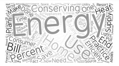 conserving: Home energy ll Word Cloud Concept Text Background Illustration