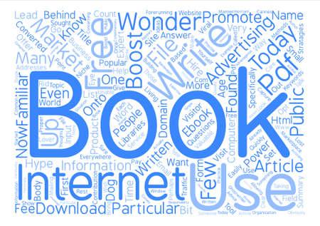 The Power Behind E books Word Cloud Concept Text Background Illusztráció