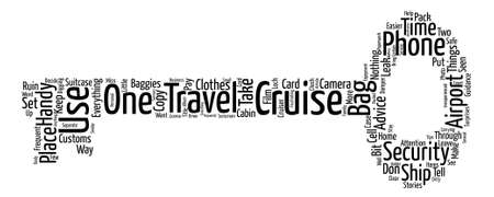 Take Two On Cruise Travel Tips Word Cloud Concept Text Background