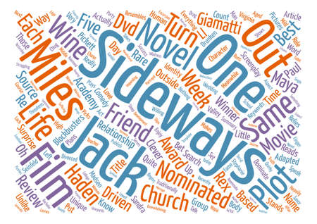 screenplay: Sideways DVD Review text background word cloud concept