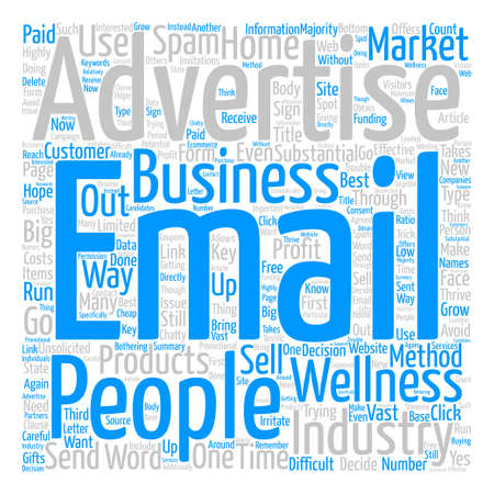 difficult decision: Is Email Advertisements A Business Word Cloud Concept Text Background