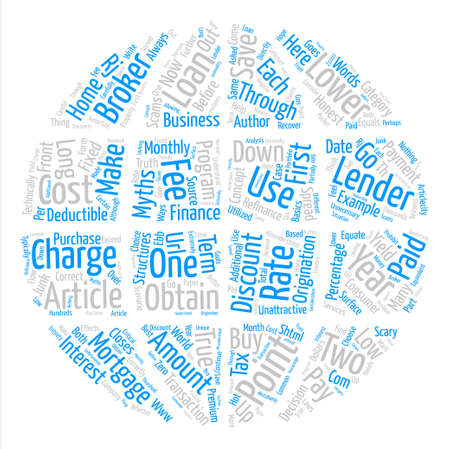 Myths About Mortgage Points text background word cloud concept