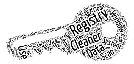 The Importance Of A Registry Cleaner text background word cloud concept