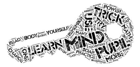 Mind Tricks Six Easy Ones text background word cloud concept