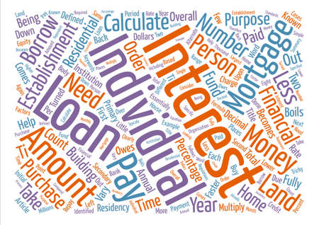 What counts as mortgage interest and how do I calculate it text background word cloud concept