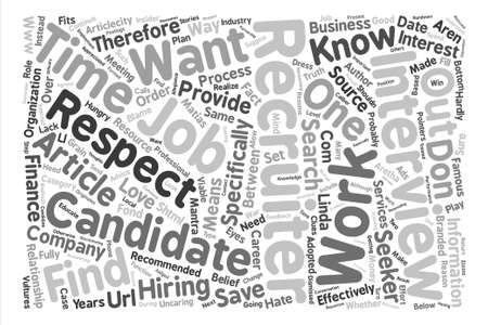recruiters: How to Work Effectively With Recruiters text background word cloud concept Illustration