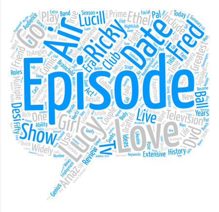 I Love Lucy DVD Review Word Cloud Concept Text Background