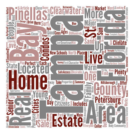 What We Love About Tampa Bay Florida Word Cloud Concept Text Background