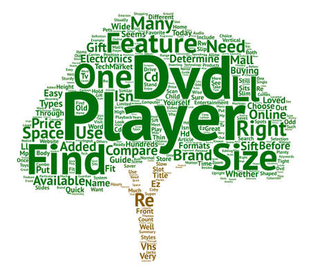How To Choose A Dvd Player Word Cloud Concept Text Background 向量圖像
