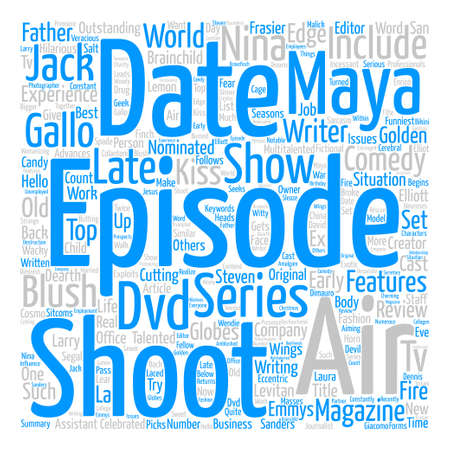 nominated: Just Shoot Me DVD Review text background word cloud concept Illustration