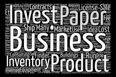 Make Your Fortune In A Paper Business text background word cloud concept