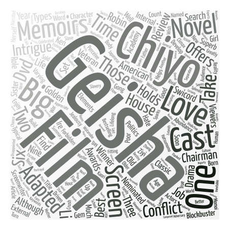 Memoirs Of A Geisha DVD Review text background word cloud concept