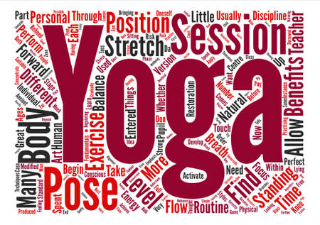 get across: How To Get The Most From Yoga Word Cloud Concept Text Background Illustration