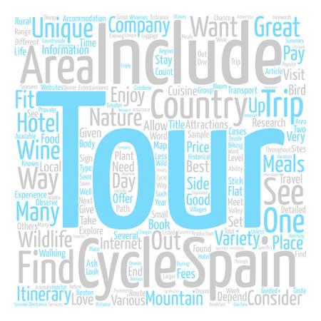 Unique Tours Of Spain text background word cloud concept