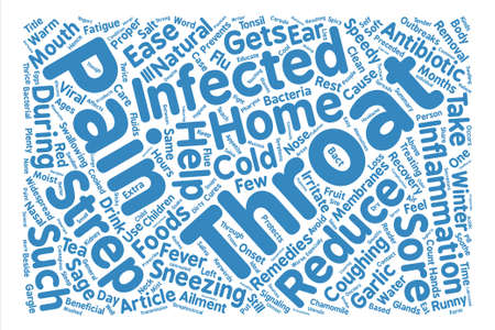 Home Remedies For Strep Throat Word Cloud Concept Text Background