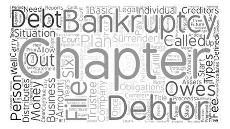 owes: Types Of Debtor Bankruptcy text background word cloud concept Illustration