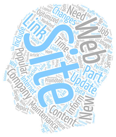 web site: Company web site maintenance text background wordcloud concept