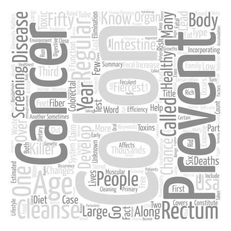 colon cleansing: How Colon Cleanse Can Prevent Colon Cancer text background word cloud concept
