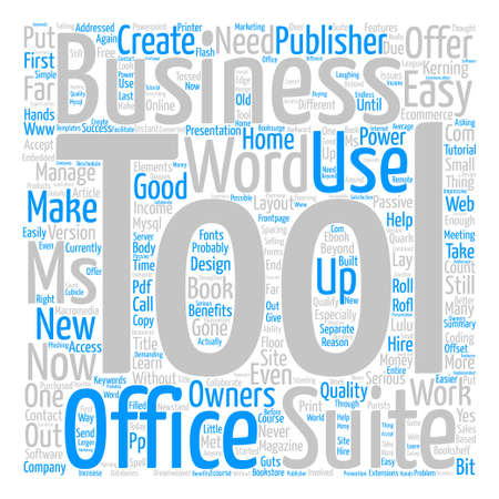 What Does Ms Office Suite Offer Business Owners text background word cloud concept