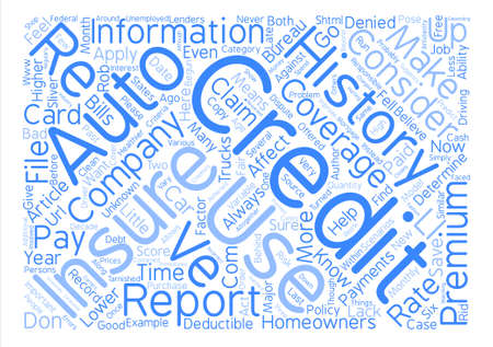 My Credit Affects My Car Insurance Rate text background word cloud concept