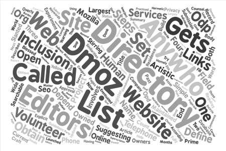 DMOZ テキスト背景単語雲概念のリストを取得する方法  イラスト・ベクター素材