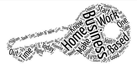 How Do You Choose The Right Home Based Business text background word cloud concept