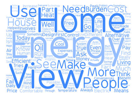 critique: view home energy ll text background word cloud concept