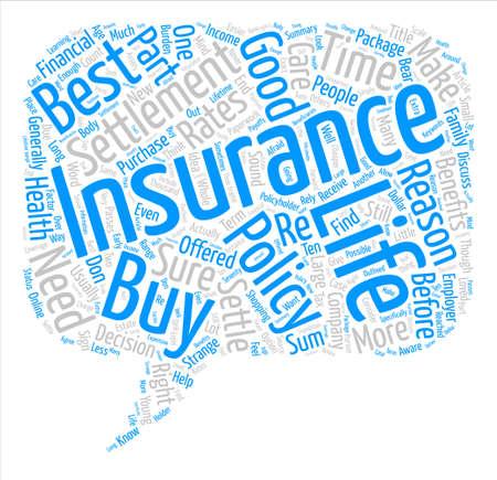 生命保険決済本文背景単語雲概念