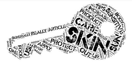 Sensitive Skin Care Tips text background word cloud concept