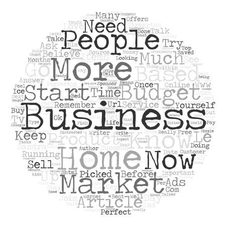 scour: The Perfect Home Based Business and How to Start text background word cloud concept