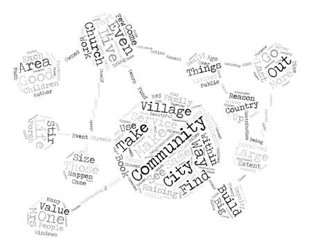 It Takes a Village Word Cloud Concept Text Background