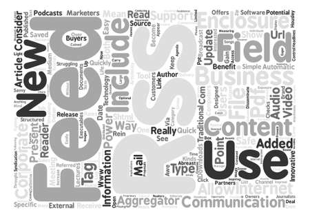 http: Innovative Business Use of RSS as a Technology text background word cloud concept