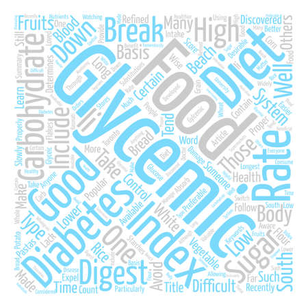 determines: What is Glycemic Good Gylcemic Foods text background word cloud concept