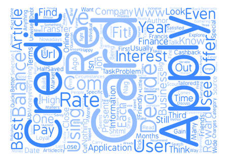 How do you decide which credit card to apply for text background word cloud concept Illustration