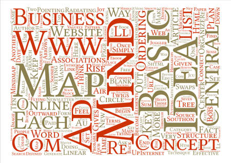 http: How To Mind Map Your Business text background word cloud concept Illustration